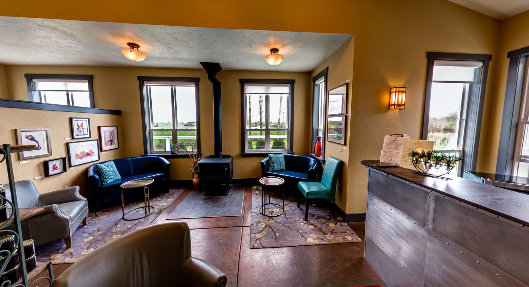 Keeler Estate Vineyard Interior of Tasting Room